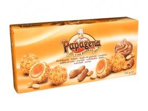 Papagena - Waflové kuličky s krémovou náplní a kousky arašídů 120g