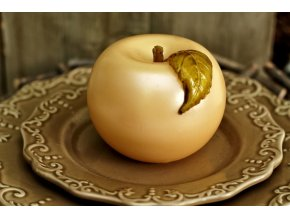 Svíce Dekorační jablko krémové  8 cm