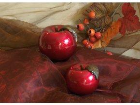 Svíce Dekorační jablko bordó 10 cm