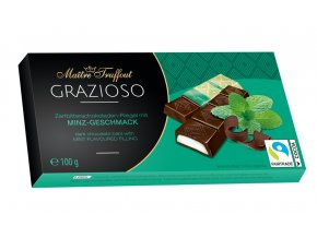 Grazioso dark chocolate with mint cream filling 100g 8x125g Image 1 Zoom image