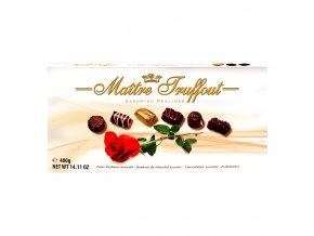 Maitre Truffout - Výběr pralinek v balení s růží 400g
