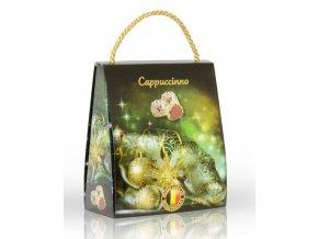 Lanýže mléčné Cappuccino s hoblinkami z bílé čokolády  v dárkové tašce Vánoce 250g