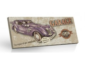 Retro Choco Cars Garage - mléčná čokoláda 100g