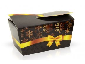 Minibonboniérka s čokoládovými pralinkami černá zimní 28 g