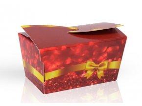 Minibonboniérka s čokoládovými pralinkami  červená 28 g