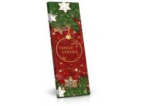 Hořká čokoláda 225g s vánočním motivem