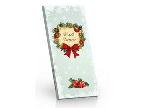 Čokoláda Vánoce mléčná Věneček 100g