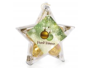Valentýn - Pralinky v plastové krabičce (hvězdička) 70 g