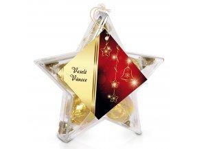Pralinky v plastové krabičce (hvězdička) zlatá 70g