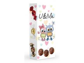 Čokoládové plněné pralinky - U&Me 84g