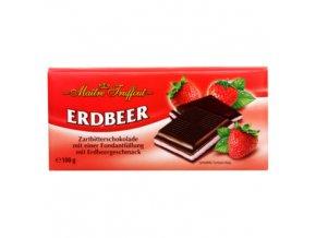 Hořká čokoláda s fondánovou náplní s jahodovou příchutí 100 g