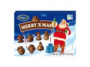 Vollmilchschokolade Merry X mas Figuren 100g Bild 1 Zoombild