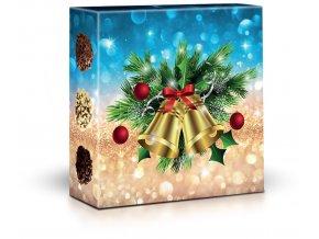 Belgické pralinky 50g ve vánočním obalu zvonky