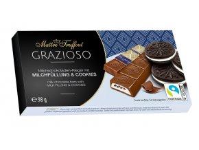 Grazioso Milchschokolade mit Milchcreme und Kakaokeksstuecken 98g Bild 1 Zoombild