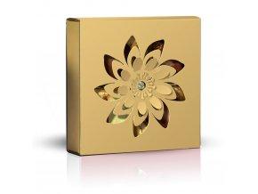 Belgické pralinky Květ zlatý obal 50g