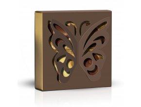Belgické pralinky Motýl hnědý obal 50g