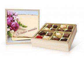 Květina – výběr belgických pralinek 400 g (s vlastním textem)