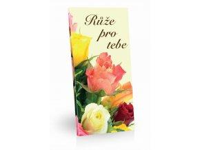Čokoláda mléčná Růže pro tebe 100g