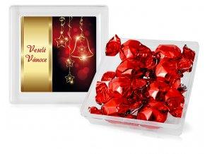 Italské čokoládové pralinky v plastové dóze 112g červené koule
