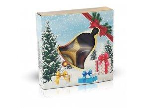 Belgické pralinky 50g s vánočním motivem zvonek