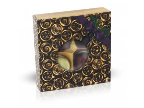 Belgické pralinky 50g s vánočním motivem zlaté koule