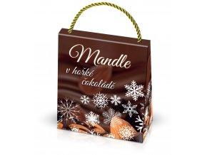 Mandle v belgické čokoládě v hnědé dárkové tašce 200g