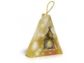 Mix pralinek Vánoční stromeček 90g zlatý