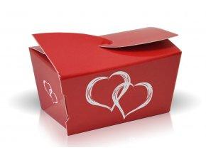 minibonboniera cokoladove pralinky 28 g srdce