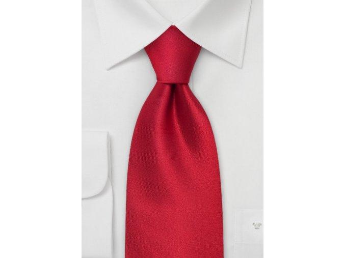 Kravata jednobarevná jasně zářící červená