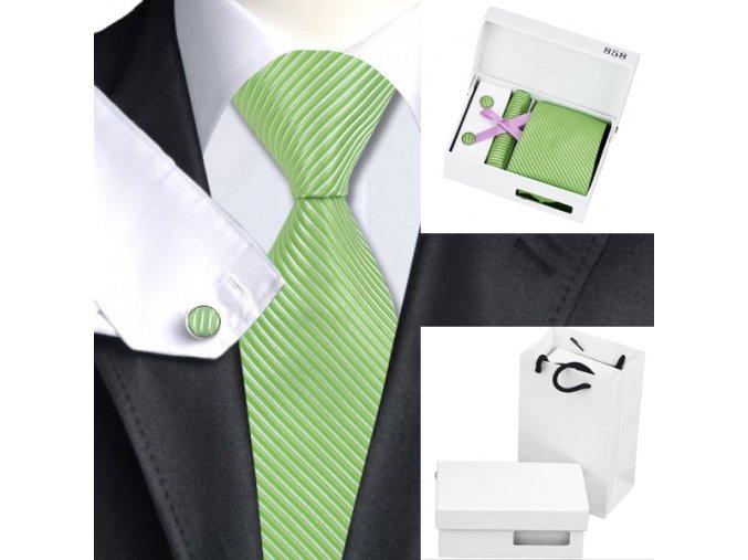 Luxusní dárkový balíček - kravata zelená