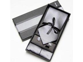 Luxusní dárkový balíček - kravata stříbrná