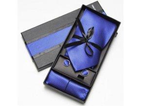 Luxusní dárkový balíček - kravata modrá