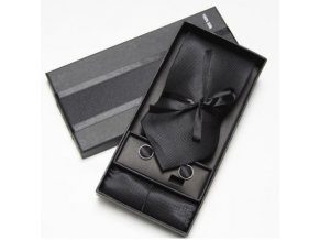 Luxusní dárkový balíček - kravata černá