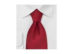 Kravata rudá s rudými proužky