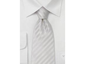 Kravata bílá proužkovaná