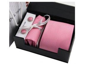 Luxusní dárkový balíček - kravata růžová
