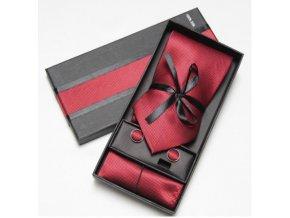 Luxusní dárkový balíček - kravata vínová