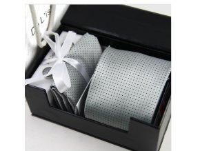 Luxusní dárkový balíček - kravata silver