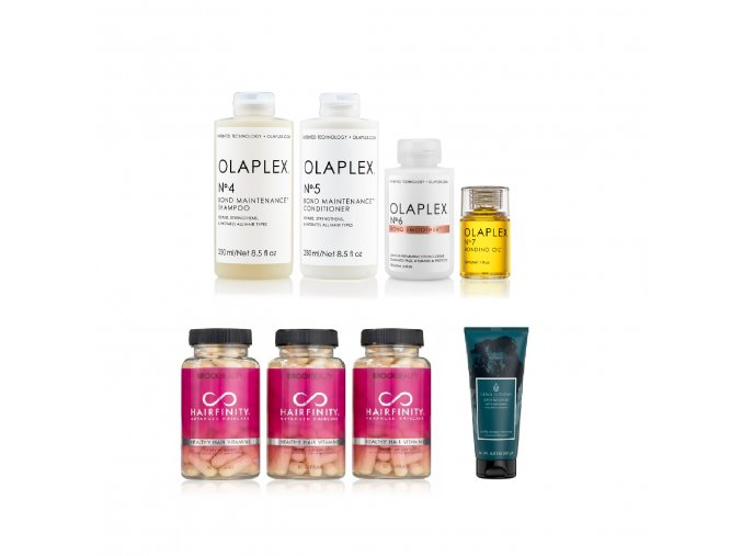 BZVK sada pro chemicky poničené lámavé barvené vlasy (normální a silné)