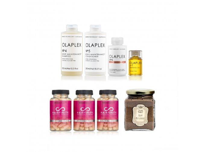 BZVK sada pro chemicky poničené lámavé barvené vlasy (jemné)