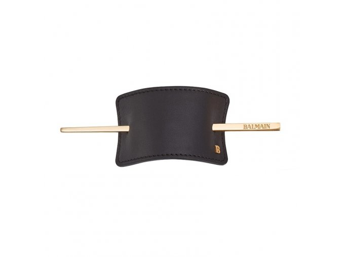 webitem specials hairbarrette blackleather