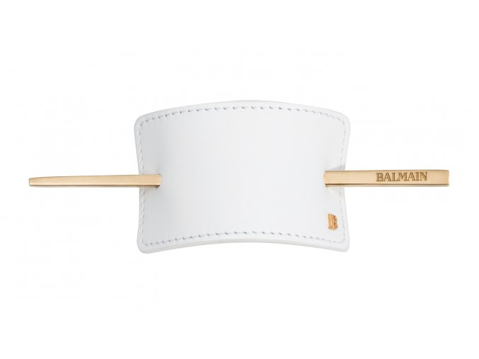 BalmainHair Accessories HairBarrette Leather White LR