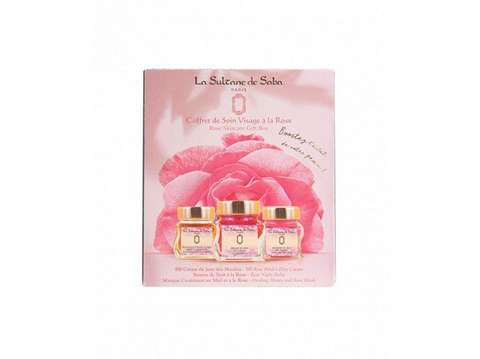 coffrets visage la sultane de saba coffret visage soin a la rose les indispensables de la gamme 3700448605634