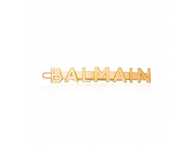 BalmainHair Accessories HairSlide Logo LimitedEdition SpringSummer20 Front