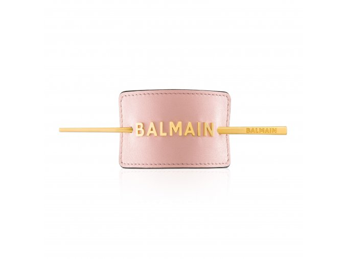 BalmainHair Accessories HairBarrette LimitedEdition SpringSummer20 PastelPink GoldLogo