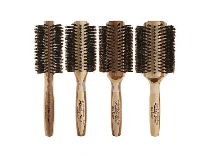 olivia garden healthy hair eco friendly 100 boar bristle bamboo styling brush collection
