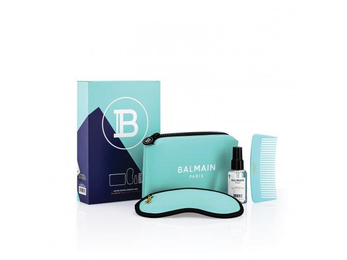 BalmainHair CosmeticBag LimitedEdition SpringSummer21 Turquoise withBox LR
