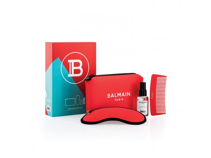 BalmainHair CosmeticBag LimitedEdition SpringSummer21 Red withBox LR