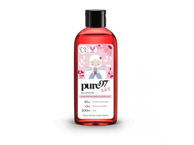 dětský šampon a sprchový gel Pure97 Kids Květinová víla pro dívky, 250 ml