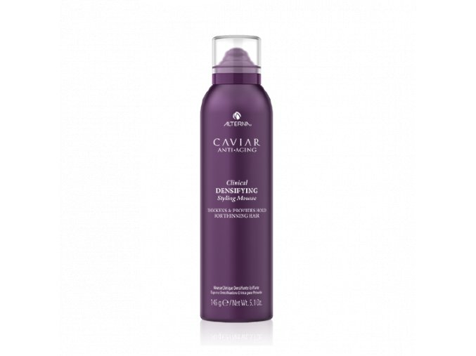 A lightweight densifying mousse that thickens hair and prevents breakage
